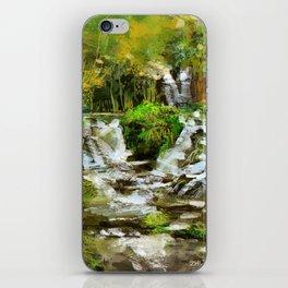 Waterfall Illustration  iPhone Skin