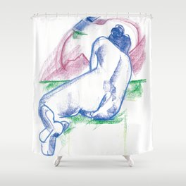 The sunbather Shower Curtain