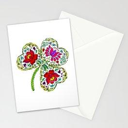 Flowery Shamrock Stationery Cards