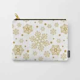 Golden snowflakes Carry-All Pouch