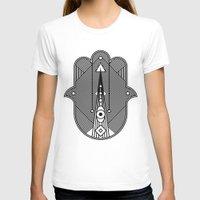 hamsa T-shirts featuring hamsa  by Leandro Pita