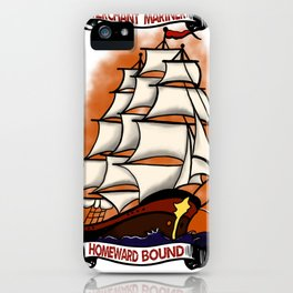 Homeward Bound Traditional style sailor iPhone Case