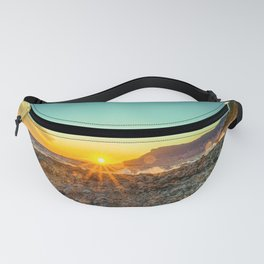 The bay of Montecarlo Monaco at sunset from Cap Martin in a sunny winter day Fanny Pack
