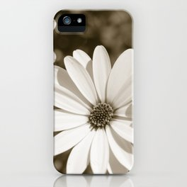 Monochrome Daisy - Botanical Photography iPhone Case