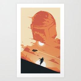 The Lone Space Ranger Art Print