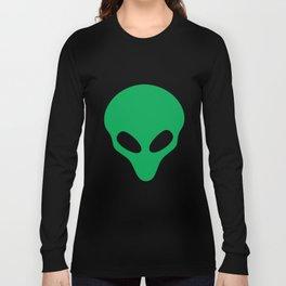 Green Alien Head TShirt Funny Extraterrestrial Life Gift Tee Long Sleeve T-shirt