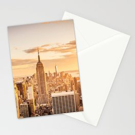 New York City- Empire State Building at sunset Stationery Cards