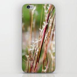 Wild Red Grass iPhone Skin