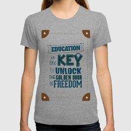 Lab No. 4 Education Is the Key George Washington Carver Inspirationa Quote T-shirt