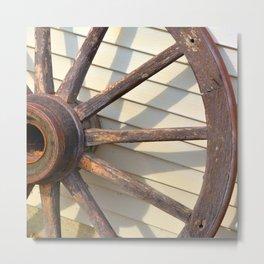 Wheel of a Wagon Metal Print