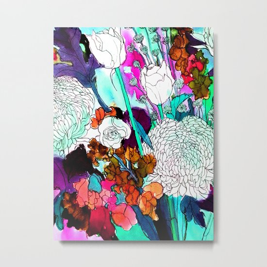 forest flowers 3 Metal Print