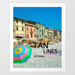 TAN LINES OPTIONAL Art Print