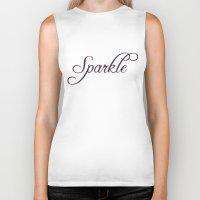 sparkle Biker Tanks featuring Sparkle by Rebekah Carney