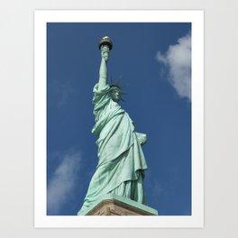 Blue Skies Behind Lady Liberty Art Print