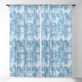Alpacas and cacti Sheer Curtain