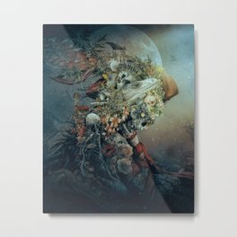 Lizard in moonlight Metal Print