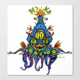 Levitating Mind Creature  Canvas Print