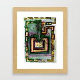 Non-Google Map Framed Art Print
