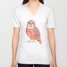 Drawing an Owl Unisex V-Neck
