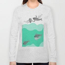 Ringed seal - Winter Arctic Long Sleeve T-shirt