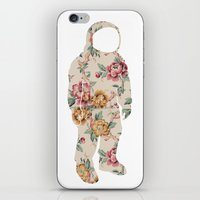 neil gaiman iPhone & iPod Skins featuring Floral Neil  by Grafity Apparel