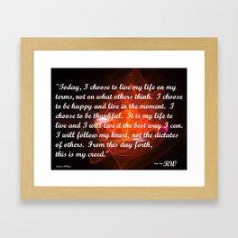 I Choose Framed Art Print
