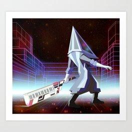 Neon Pyramid Head Art Print
