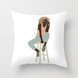 Thinking of a Master Plan Bawse Throw Pillow