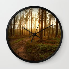 The Warmest Morning Wall Clock