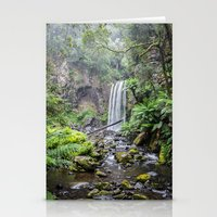 waterfall Stationery Cards featuring Waterfall by Michelle McConnell