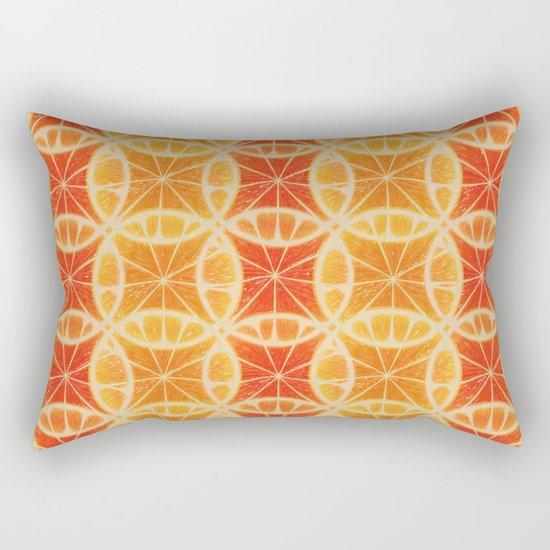 Orange Slice Pattern Rectangular Pillow