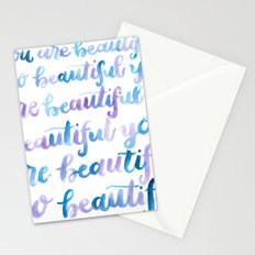 You are Beautiful Watercolor Stationery Cards