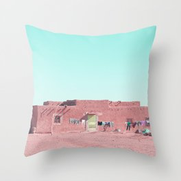 Moroccan Home in Pink Throw Pillow