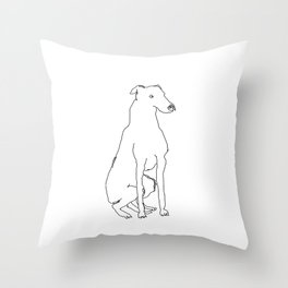Greyhound (Black) Throw Pillow