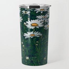 White Field Of Daisies Travel Mug