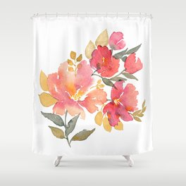 Delicate florals. Watercolor flowers. Lovely bouquet for girl. Shower Curtain