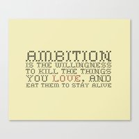 30 rock Canvas Prints featuring Ambition — Jack Donaghy, 30 Rock by feishien