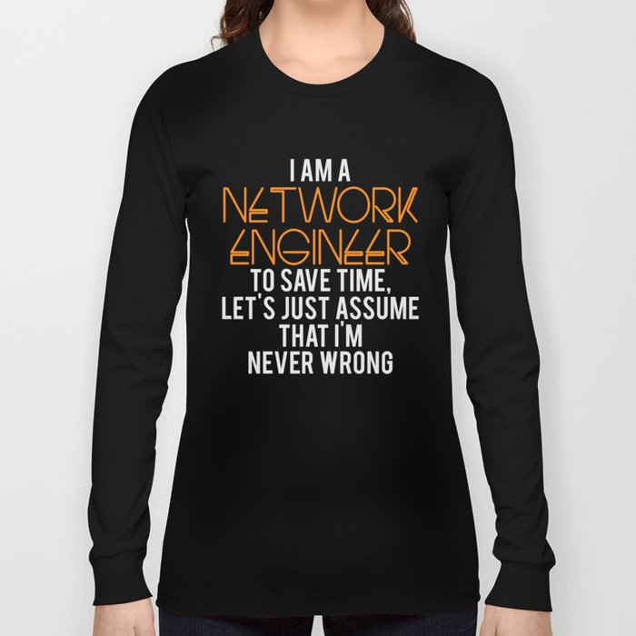 Network Engineer Gift Funny Engineering Computer Science Long Sleeve