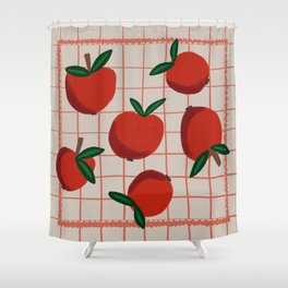 Summer Harvest / Red Apples Shower Curtain