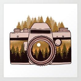Camera Forest Art Print