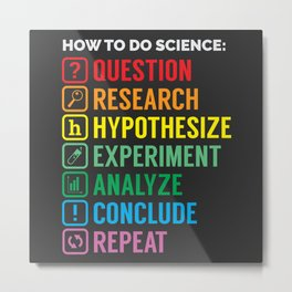 How To Science Metal Print