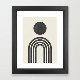 Mid century modern black Framed Art Print