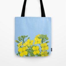 Summer flower in yellow Tote Bag
