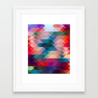 triangle Framed Art Prints featuring TRIANGLE by Hands in the Sky