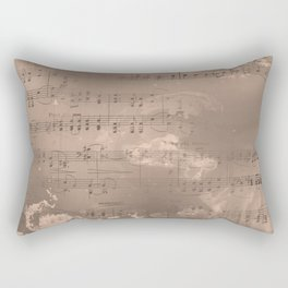 Sheet Music - Mixed Media Partiture #2 Rectangular Pillow