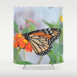 The Monarch Has An Angle Shower Curtain