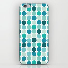Midcentury Modern Dots Blue iPhone Skin