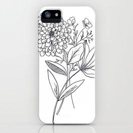 Zinnia iPhone Case