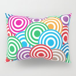 Colorful Circles Pattern Pillow Sham