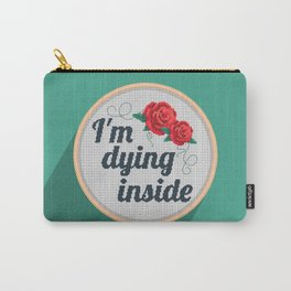 Brutally Honest Cross Stich Carry-All Pouch
